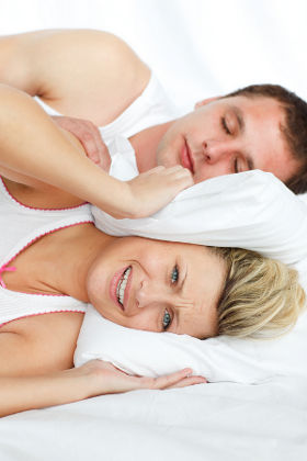 snoring husband is driving wife crazy