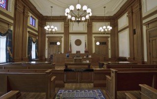 Photo of a court room.