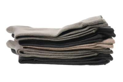 A stack of folded compression socks