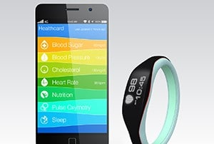 Fitbit sleeping monitor and phone with health app