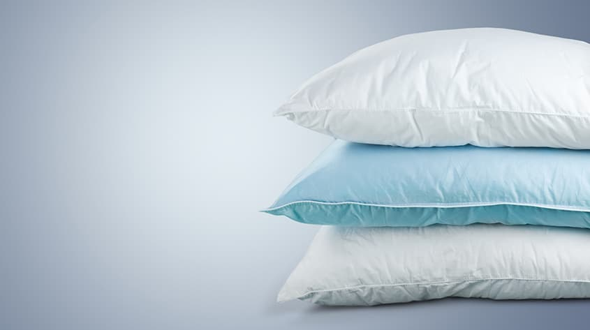 Three pillows stacked on top of each other