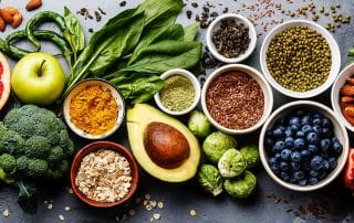 selection of healthy foods that can give you energy