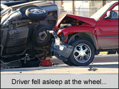 Falling asleep at the wheel because of sleep apnea Omaha